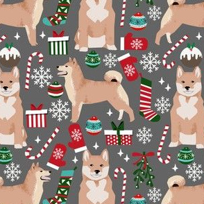 shiba inu christmas fabric cute christmas design shiba inu dog fabrics