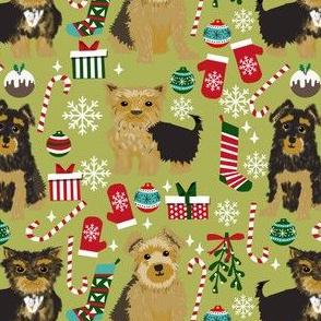 yorkie dog christmas fabric cute yorkshire terriers christmas design yorkie design