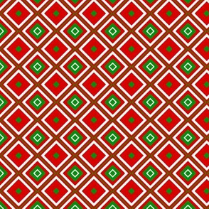 Diamonds in Christmas Colors