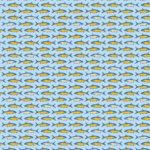 Fish Blue and Yellow