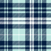 fall plaid (blue, navy, white) || the bear creek collection