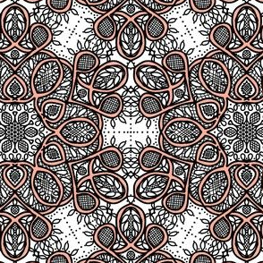 Battenburg lace kaleidoscope