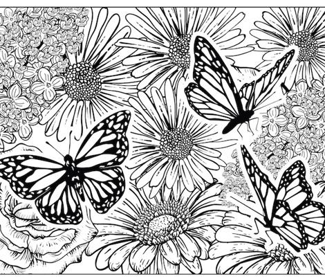 Butterly Garden Colouring Pillowcase