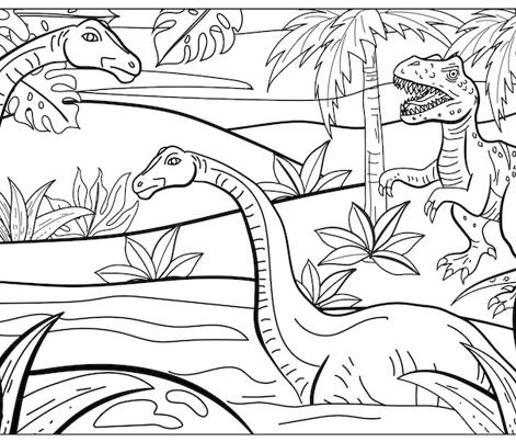 Dinosaurs Colouring Pillowcase