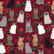 christmas cat fabric cat lover pet portraits christmas tree