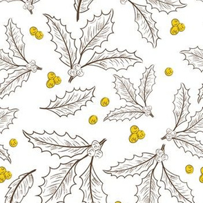 Pewter And Gold Holly