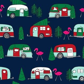 christmas camper // xmas holiday fabric cute christmas retro red and green designs cute fabric for xmas andrea lauren andrea lauren fabric