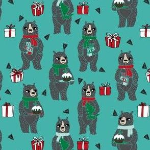 christmas bears // cute christmas design bears christmas pudding cute holiday christmas design by andrea lauren