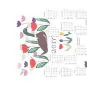 Mallard in tulips-calendar