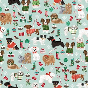 dogs christmas cute dog breeds toy breeds dogs cute dogs fabrics