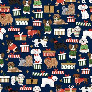 dog christmas cute dogs toy breeds dogs design best dog breed design for christmas fabric