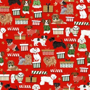 christmas dogs fabric cute dog breed designs best dog breed fabrics cute dogs