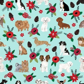 christmas dogs florals best poinsettia dog florals christmas xmas dogs fabric cute les fleurs dog fabric best florals dog fabric