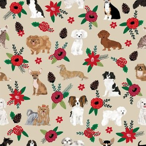 christmas dogs floral best christmas fabrics cute dog christmas design best christmas fabric poinsettias dog designs