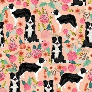 border collie florals cute border collie florals print best flowers les fleurs fabric cute border collie fabric