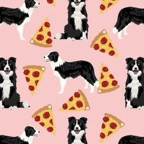 border collies pink pizza fabric best rescue dogs fabrics cute dog design best dogs