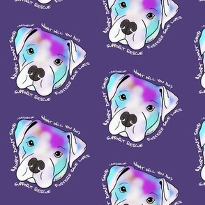 Adopt Don't Shop Purple