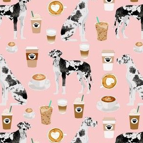 great danes coffee fabric cute sewing fabric great danes quilting fabric cute great dane design for dogs
