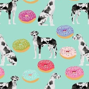 great danes donuts fabric cute dogs donuts designs best dog designs for dog owners