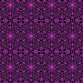 Neon Purple Love Doodle