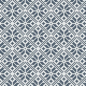 fair isle snowflake (navy) || winter knits