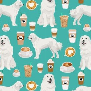 great pyrenees dogs and coffee fabric cute dogs fabric cute dog design quilting dog fabric cute quilting dogs best coffee print