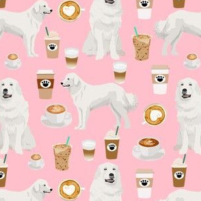 great pyrenees dog fabric cute coffee dogs best pink dogs fabric cute iced coffee fabrics featuring dogs