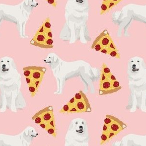 great pyrenees dogs pizza fabric cute pyrenees fabrics best great pyrenees dogs design cute dogs fabrics