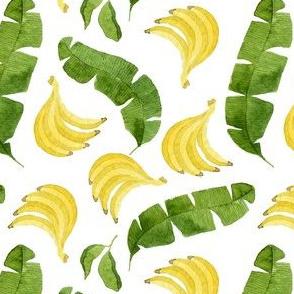 Bananas and Banana Leaves Pattern