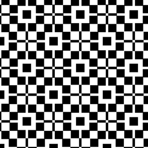 Black and White Geometric Squares