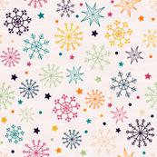 Multicolored Snowflakes