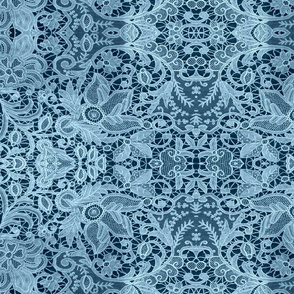 BLUE CHRISTMAS LACE