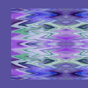Oscillating Chevrons - large - maroon, green and purple - crosswise grain