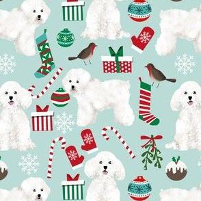 bichon christmas fabric cute bichon frise fabric best dogs fabric cute dog design