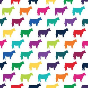 Colorful Heifer Silhouette