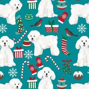 bichon frise christmas fabric cute xmas dogs design xmas fabrics for dogs