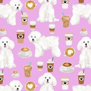 bichon frise cute dogs fabric best coffee and dogs fabric print cute dog designs