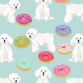 bichon frise dog fabric cute donuts and dogs designs best dog fabrics for bichon owners