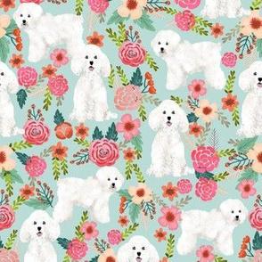 bichon florals cute bichon design best bichon frise fabric cute dog fabric