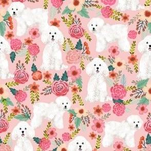 bichon florals fabric cute bichon frise dog fabric best florals les fleurs dog quilting fabrics
