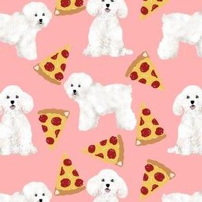 bichon frise dog fabric cute dogs pizza design best dog fabric cute pizzas fabric best dogs fabric