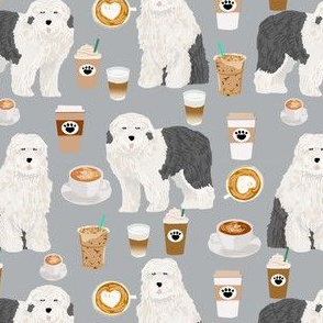 old english sheepdog fabric cute old english sheepdog and coffees print for quilting projects cute dog fabrics for quilters