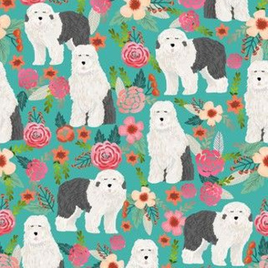 old english sheepdog florals cute dogs best dog floral prints cute old english sheepdog designs