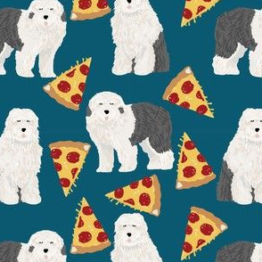 old english sheepdogs fabric cute pizza dog fabric best old english pizzas design cute dogs