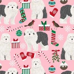 old english sheepdog christmas fabrics cute old english sheepdogs fabric cute sheepdogs fabric