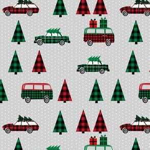 christmas plaids christmas cars xmas holiday plaids christmas tartan