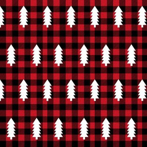 buffalo plaid trees evergreen fir tree christmas trees plaid tartan check christmas