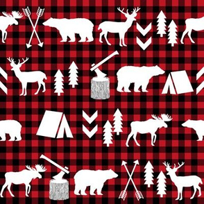 buffalo plaid woodland christmas winter fall cabin print