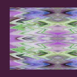 Chevron Tea Towel - maroon, lavender, green and teal  - crosswise grain