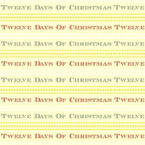 Twelve Days Of Christmas Text